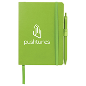 """5"""" x 7"""" Hue Soft Bound Notebook with Pen"""