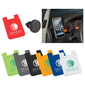 Magnetic Phone Mount w/ Silicone Wallet