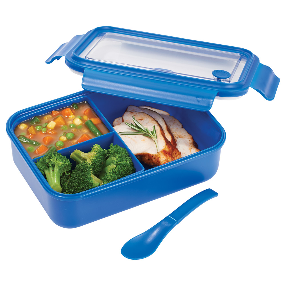 Three Compartment Food Storage Bento Box