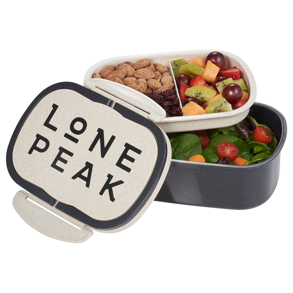 Plastic and Wheat Straw Lunch Box Container