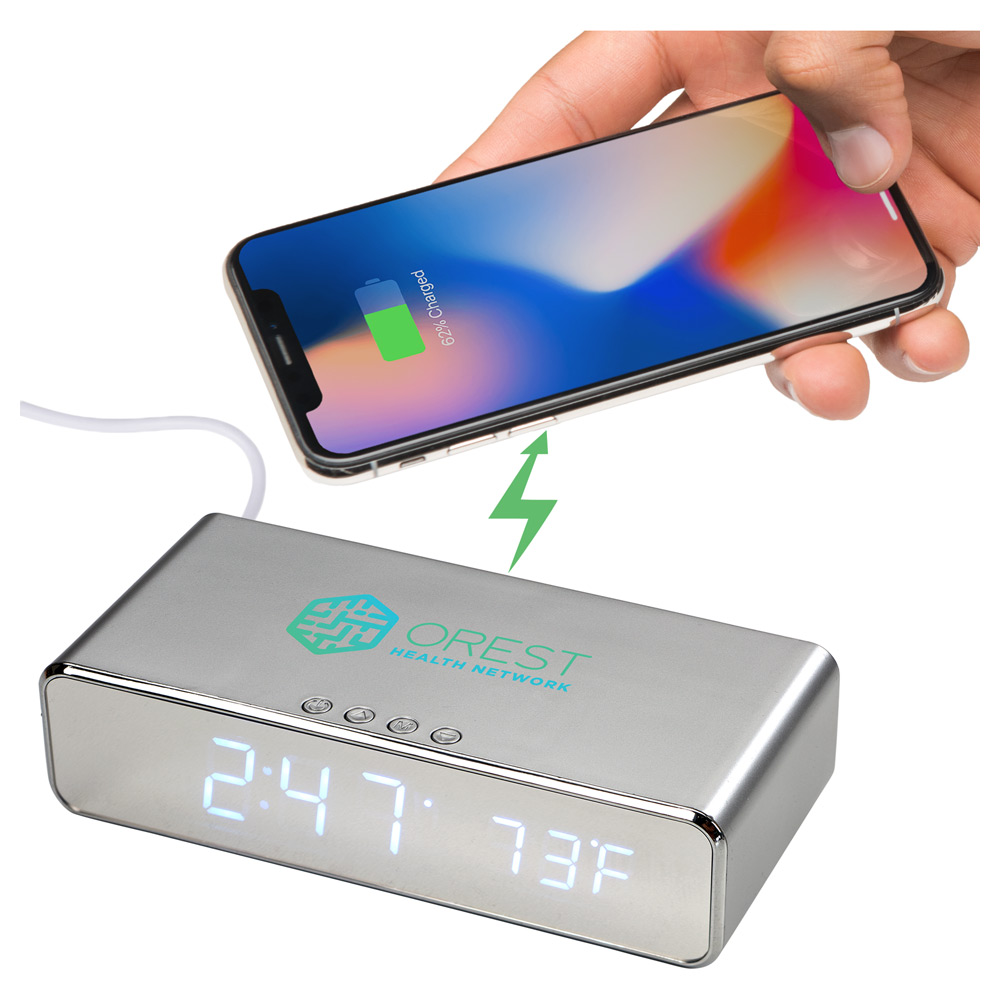 Keen Wireless Charging Desk Clock