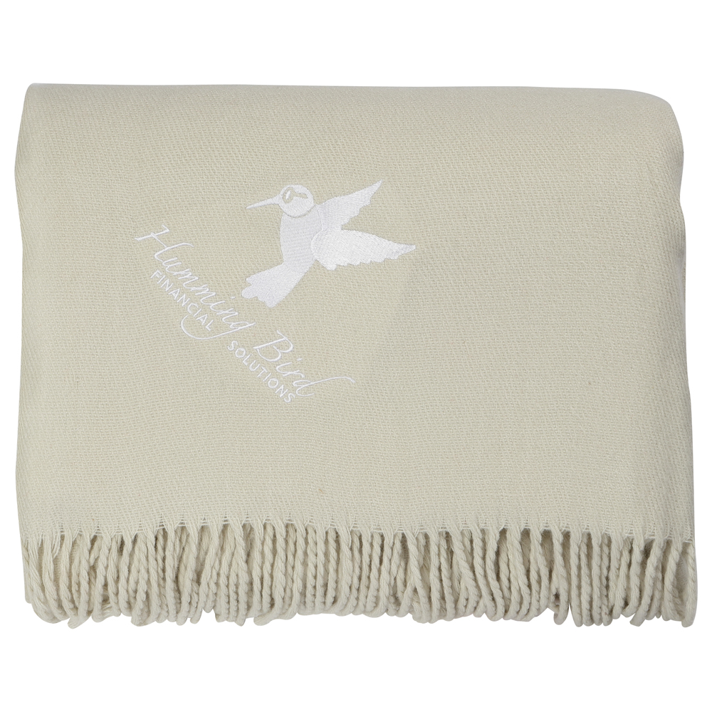 Oversized Lightweight Throw Blanket with Fringes