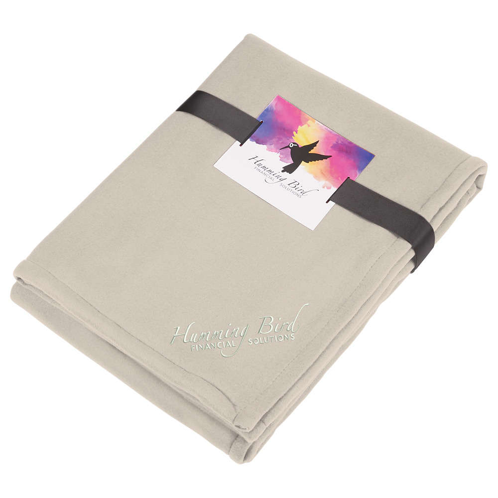 Fleece-Sherpa Blanket with Full Color Card and Ban