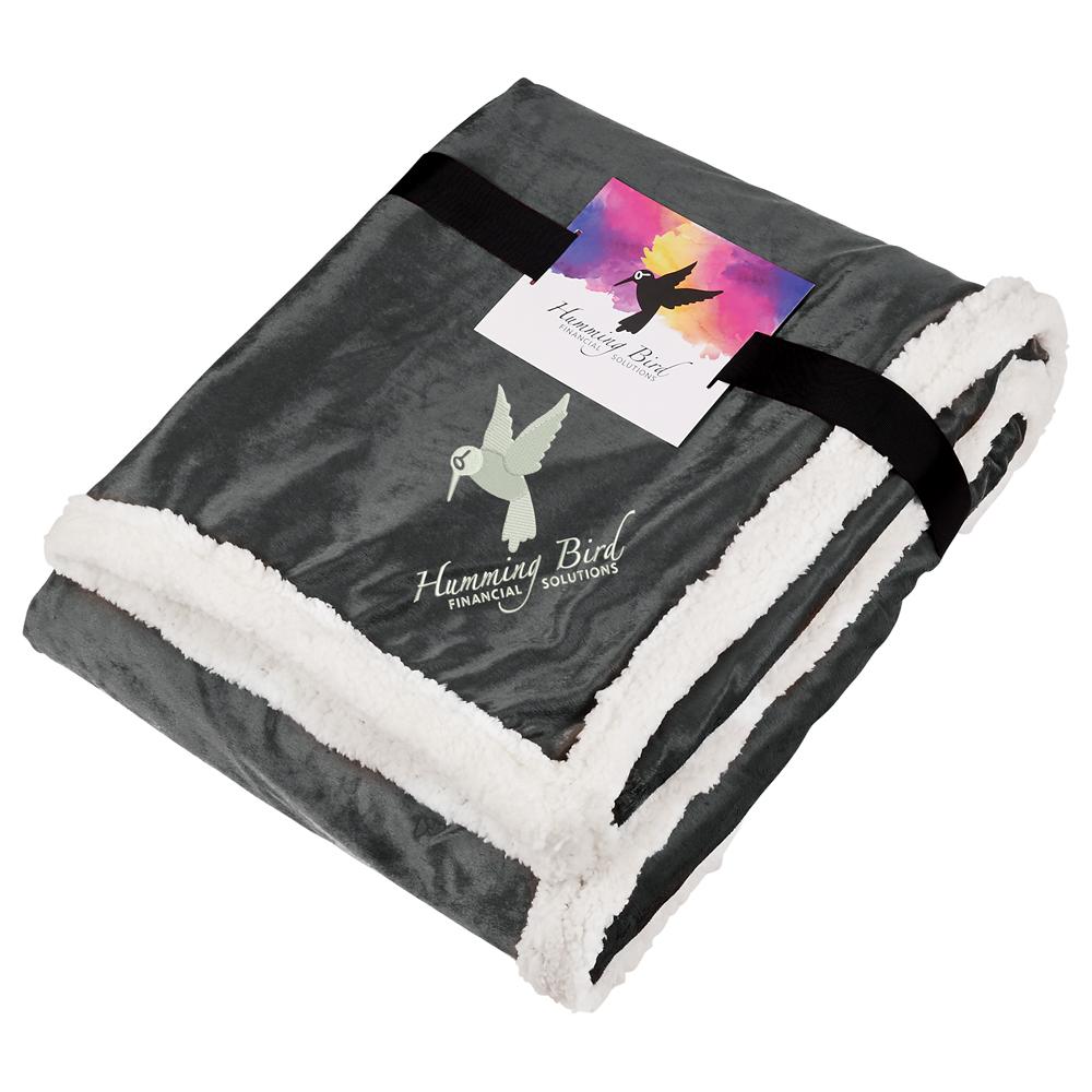 Field & Co.® Sherpa Blanket w/Full Color Card