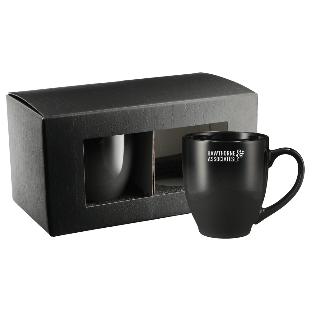 Bistro Ceramic Mug 2 in 1 Gift Set