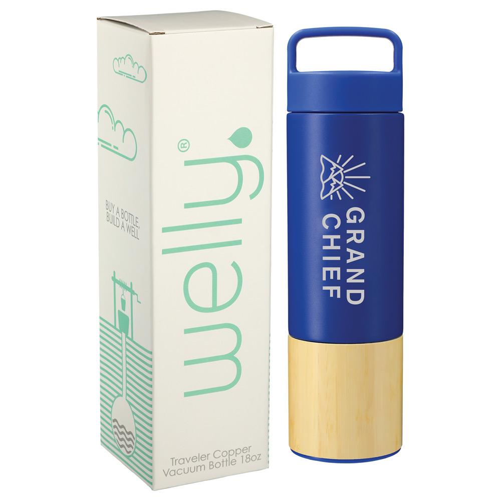 Welly® Traveler Copper Vacuum Bottle 18oz w/ GB