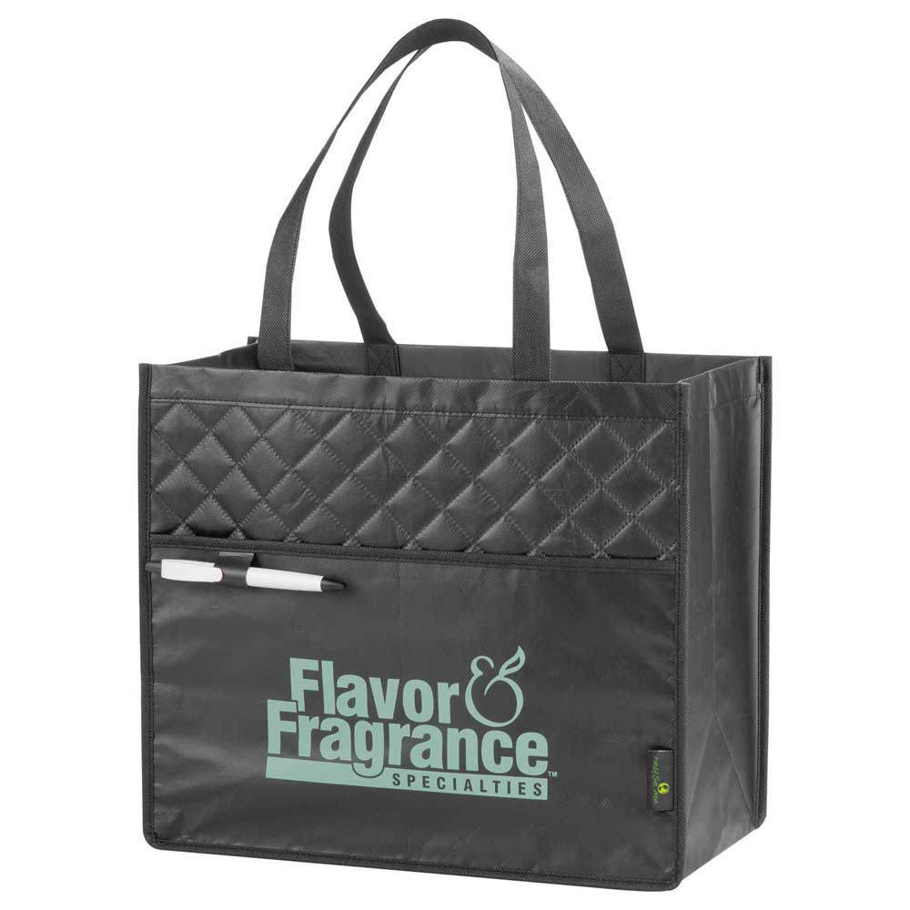 Quilted Laminated Non-Woven Carry-All Tote