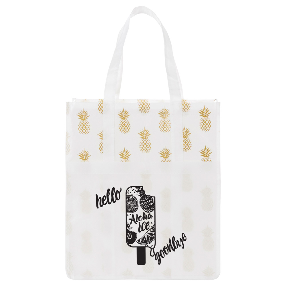 Pineapple Laminated Grocery Tote