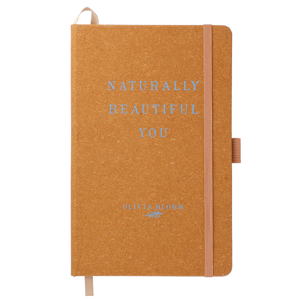 """5.5"""" x 8.5"""" Recycled Leather Bound JournalBook®"""