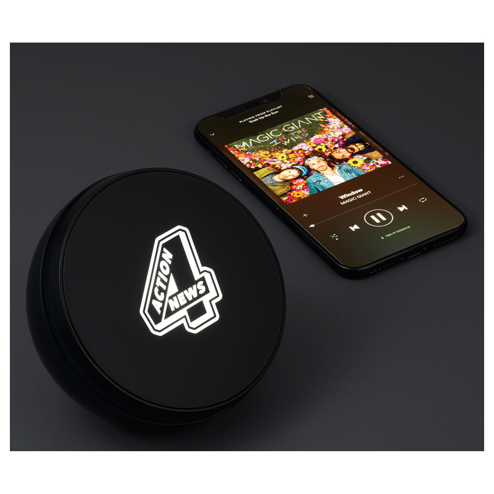 Light Up Logo Desktop Bluetooth Speaker