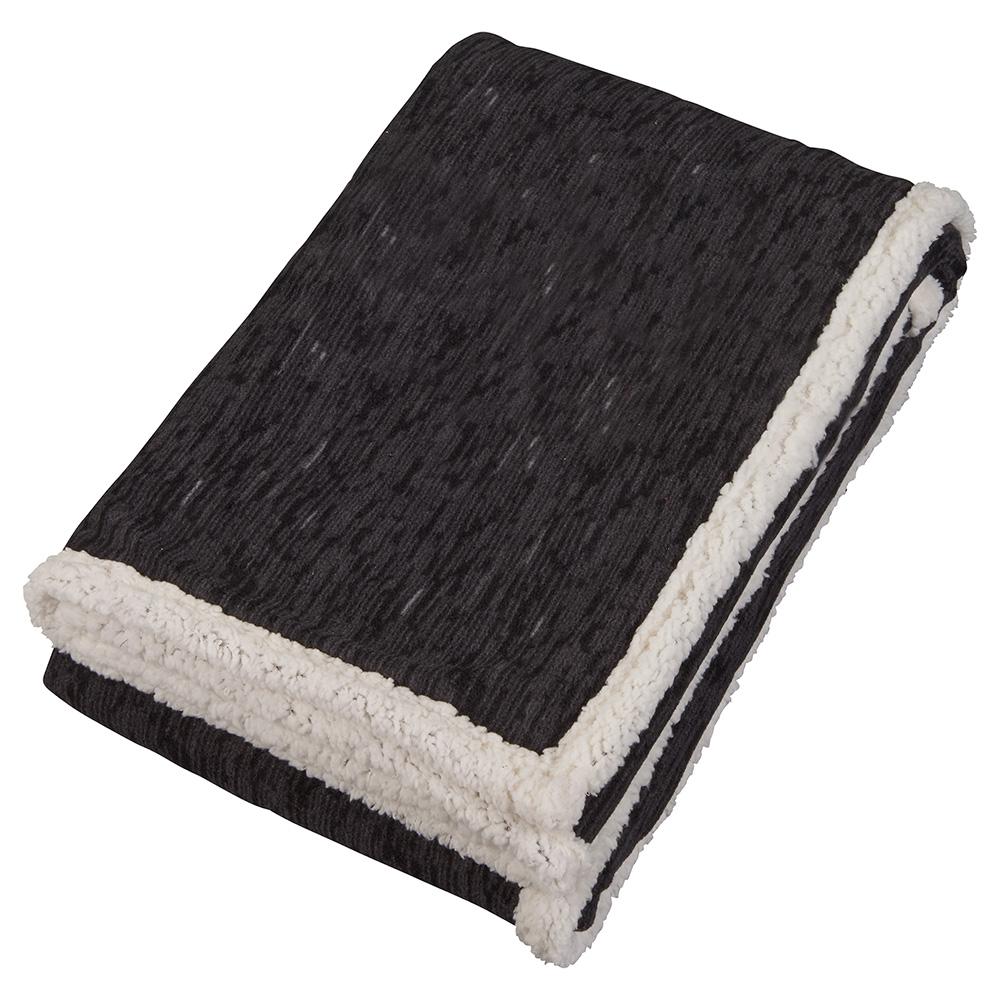 Field & Co. Heathered Fleece Sherpa Blanket
