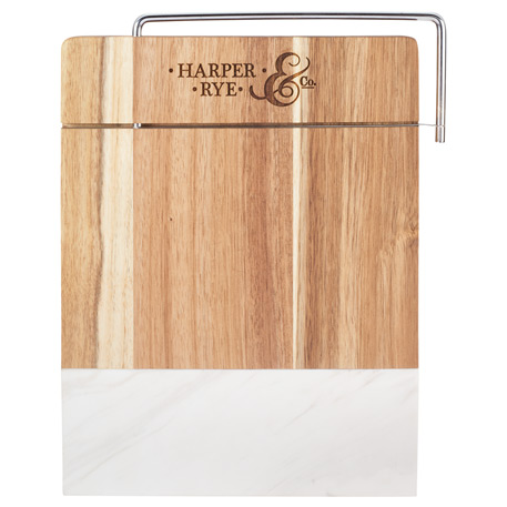 Marble and Acacia Wood Cheese Cutting Board