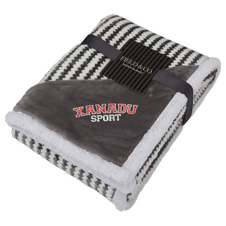 Field & Co.® Chevron Striped Sherpa Blanket