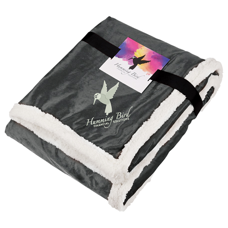 Field & Co.® Sherpa Blanket w/Full Color Card