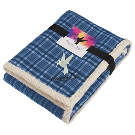 Field & Co.® Plaid Sherpa Blanket w/Full Color Car