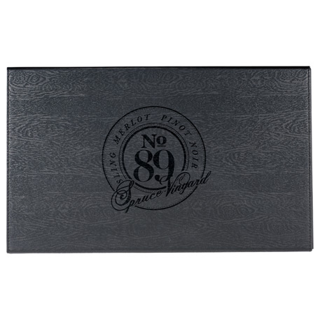 Laguiole® Black Kitchen Knife & Cutting Board Set
