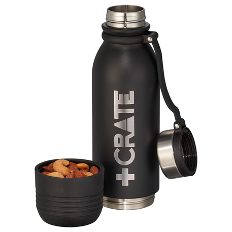 Colby Copper Vacuum Bottle With Storage 17oz