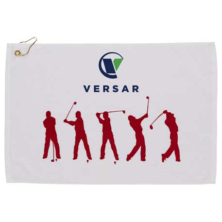 Silhouette in Action Golf Towel