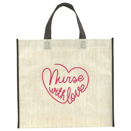 Linen Finish Laminated Non-Woven Tote