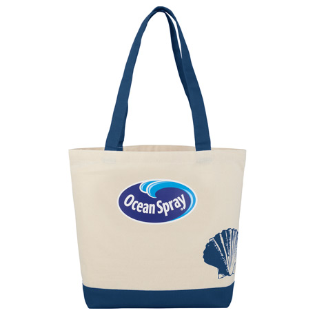8 oz. Cotton Canvas Seashell Tote
