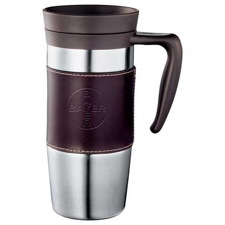 Cutter & Buck® American Classic Leather Mug 14oz