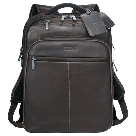 Kenneth Cole® Colombian Leather TSA Compu-Backpack