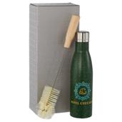 Speckled Vasa Copper Vacuum Bottle with Brush 17oz