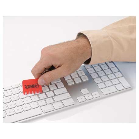 Silicone Keyboard Brush Key Ring - SM-3758 - Bullet