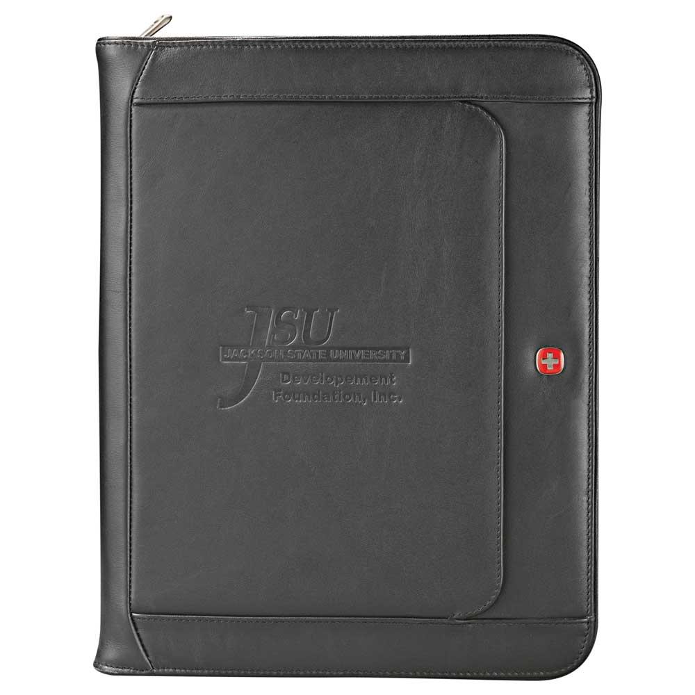1ba9244c2efa Wenger® Executive Leather Zippered Padfolio - 9355-10 - Leeds