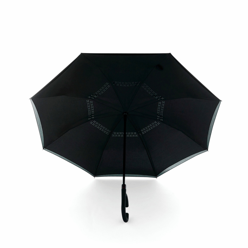 "48"" Inversion Auto Open Umbrella w/ C-Shape Handle"